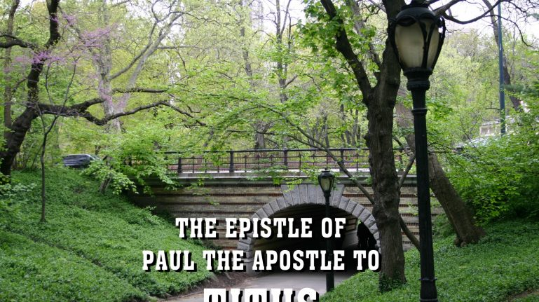 Men's Bible Study on TITUS (2012-05-15 to 2012-06-19)