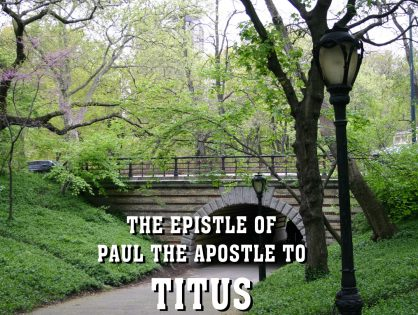 Men's Bible Study on TITUS (2012-05-15 to 2012-06-19)