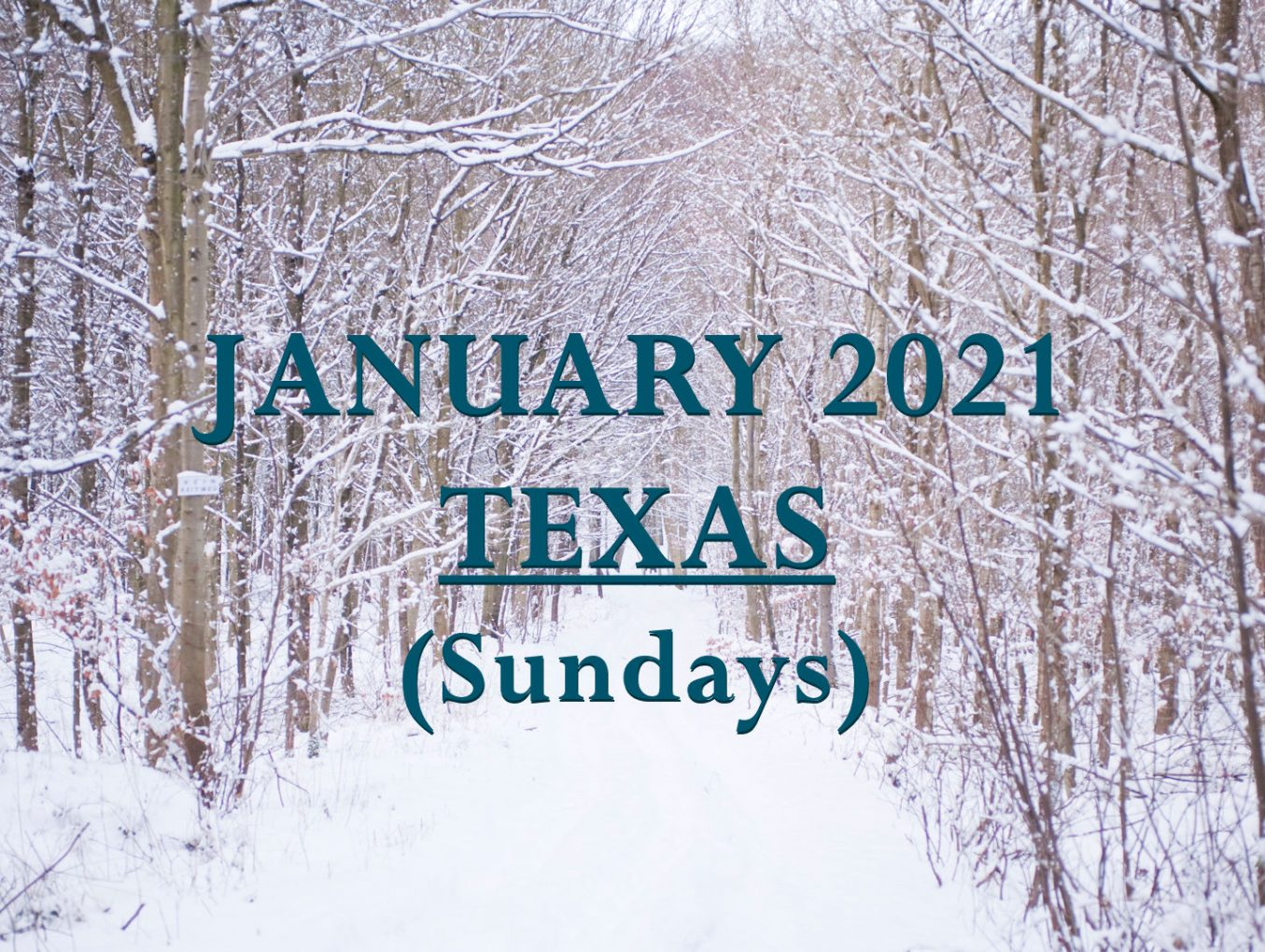 January 2021 Texas Sunday Services