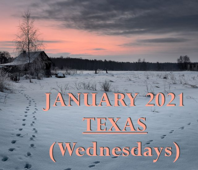 January 2021 Texas Wednesday Services