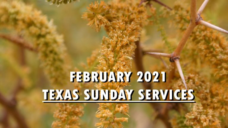 February 2021 Texas Sunday Services