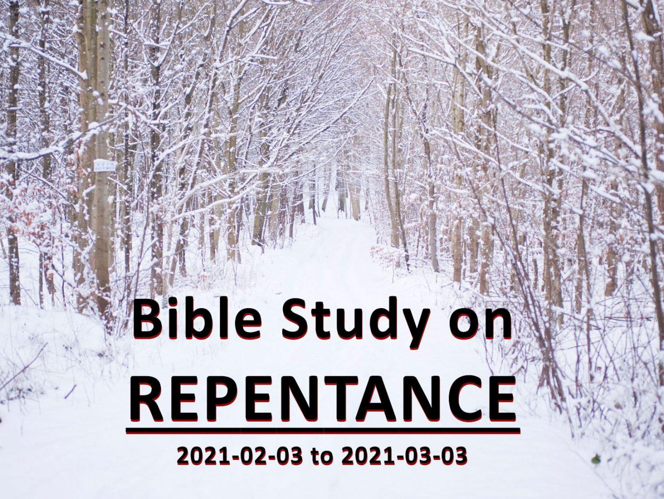 Bible Study on Repentance