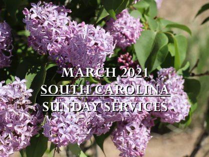 March 2021 South Carolina Sunday Services
