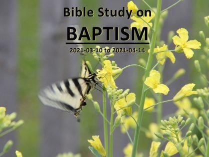 Bible Study on Baptism