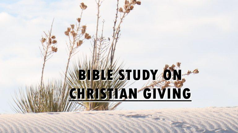 Bible Study on Christian Giving
