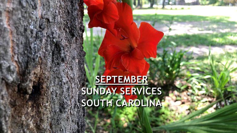 September 2021 South Carolina Sunday Services
